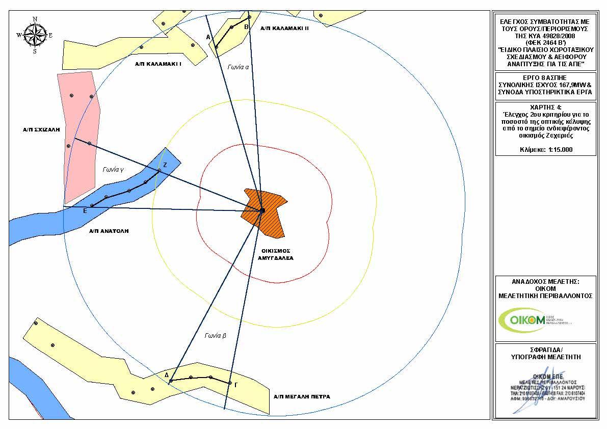 Αμυγδαλιά - Χάρτης ΑΠΕ