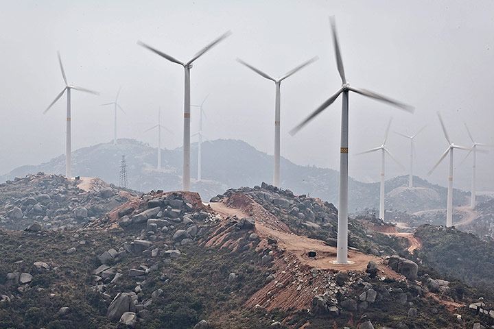 catastrophic effects of wind-turbines on the mountain