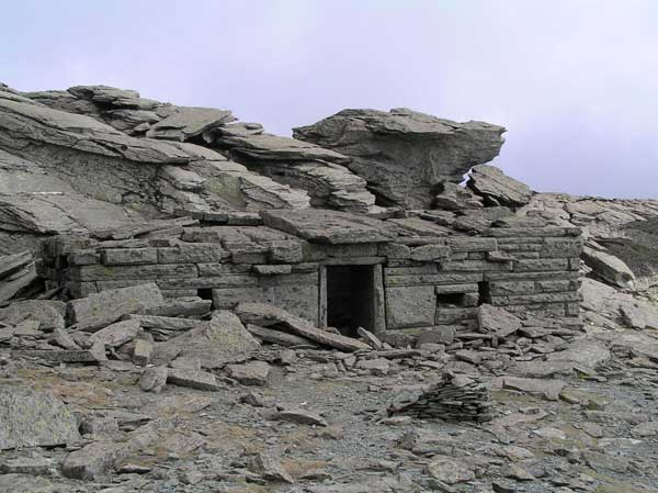 Ancient temple in Ochi mountain top in South Karystia